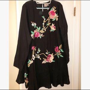 ASOS Long Sleeve Shift Dress (Black)